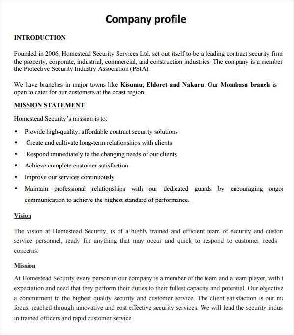 BUSINESS PROFILE EXAMPLE EPUB DOWNLOAD