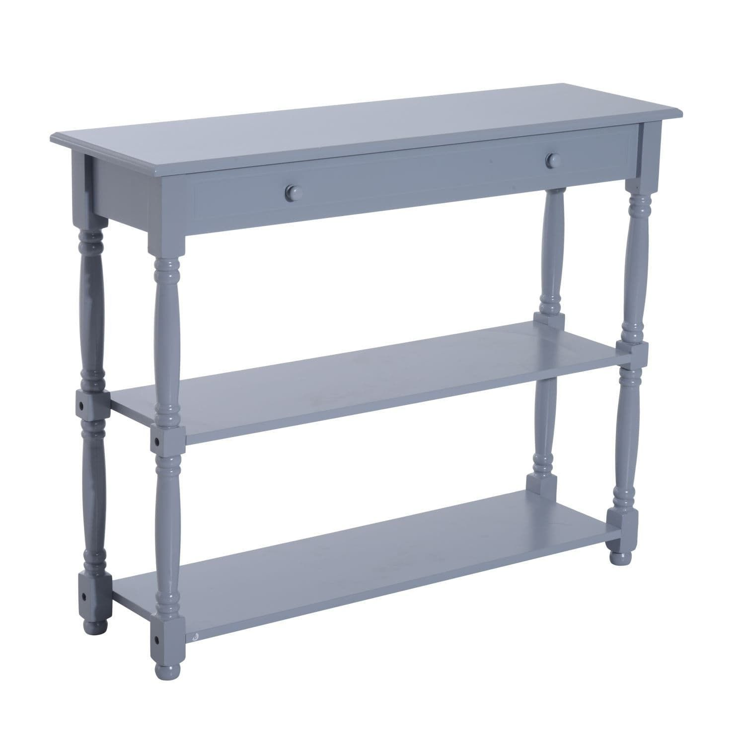 Homcom tier gray pine wood inch entryway console table