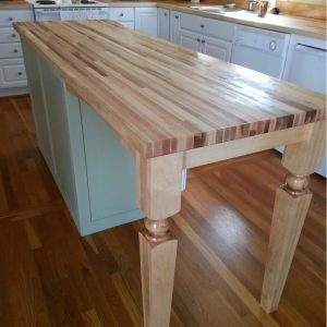 Wood Legs For Kitchen Island