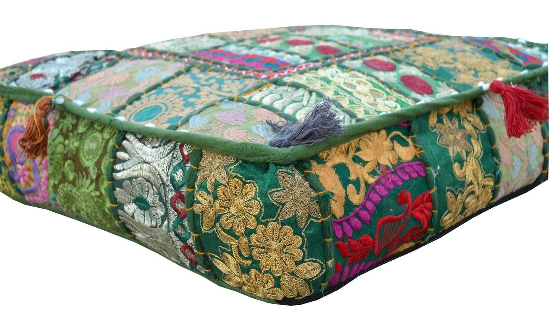 Bohemian Floor Cushions Decorative Cushion Cover Sari Patchwork Cushion Meditation Cushion Large Floor Pillow Indian Cushion Hippie 16 Decorative Cushions Indian Cushions Decorative Cushion Covers
