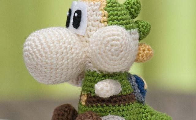 Check out this adorable link yarn yoshi plushie for Yoshi plush template