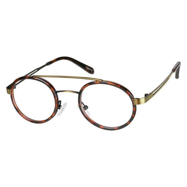 db25ec36c9 Zenni Round Prescription Eyeglasses Tortoiseshell Mixed Materials 7806725