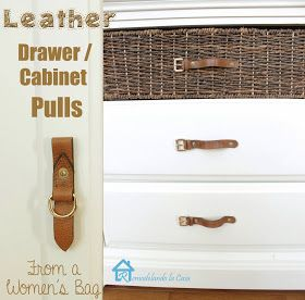 Remodelando la Casa: Leather Drawer/Cabinet Pulls
