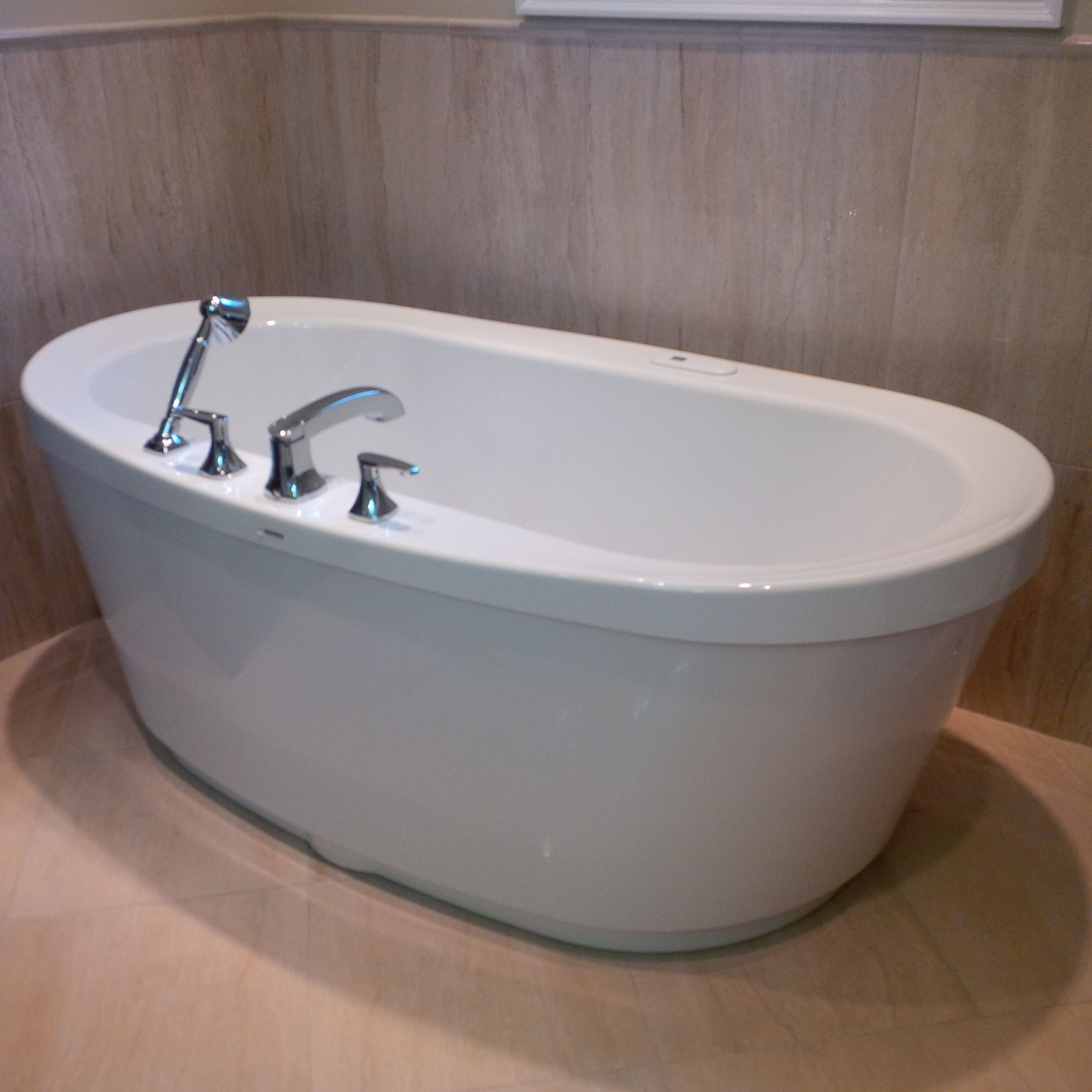 MAAX Freestanding Tub with Air Jets. Caledon Tile Renovation ...
