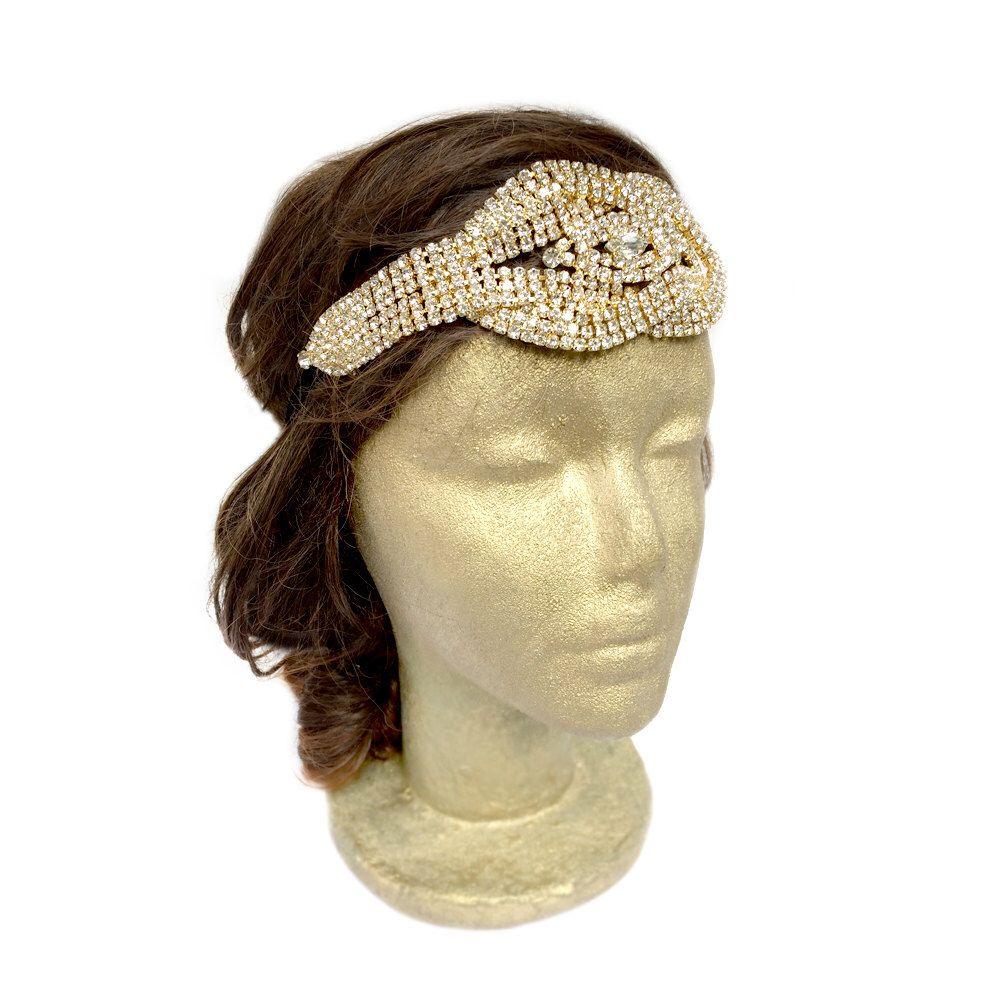 vintage wedding headband, bohemian wedding hair accessories, 1920s