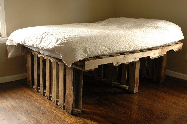 pallet furniture plans bedroom furniture ideas diy. Magnificent Wood Pallet Bed Frame For Durable Bedroom Furniture. Decor Ideas Home Interior Design Furniture Plans Diy