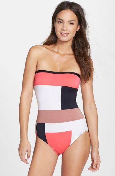 Kate Spade Colorblock bathing suit  333288004