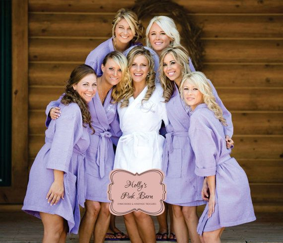 Ships 10 Business Days Free Shipping Available Set Of 6 Robes 5 Lavender Bridesmaids 1