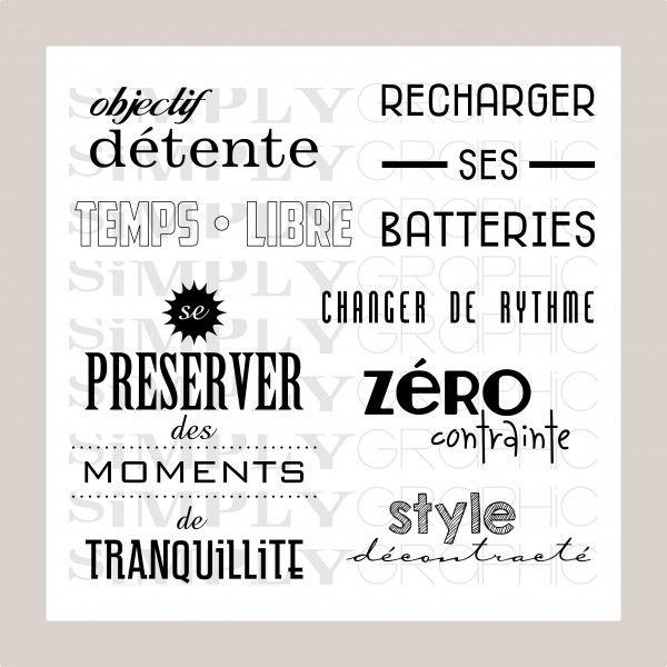Planche Temps Libre Simply Graphic Carte Retraite