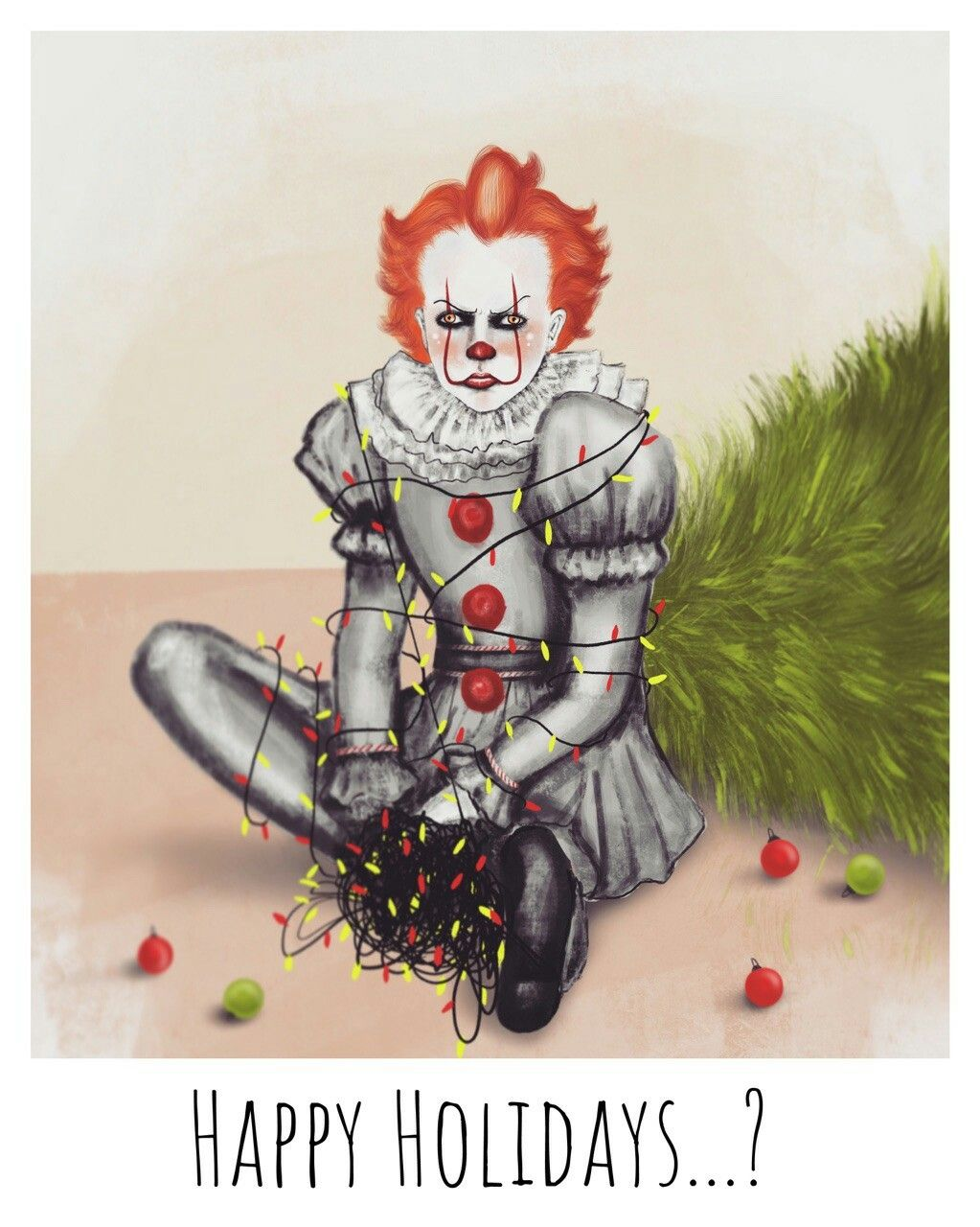 Pennywise the yard ornament! Don't forget to plug those lights in! | Pennywise the clown ...
