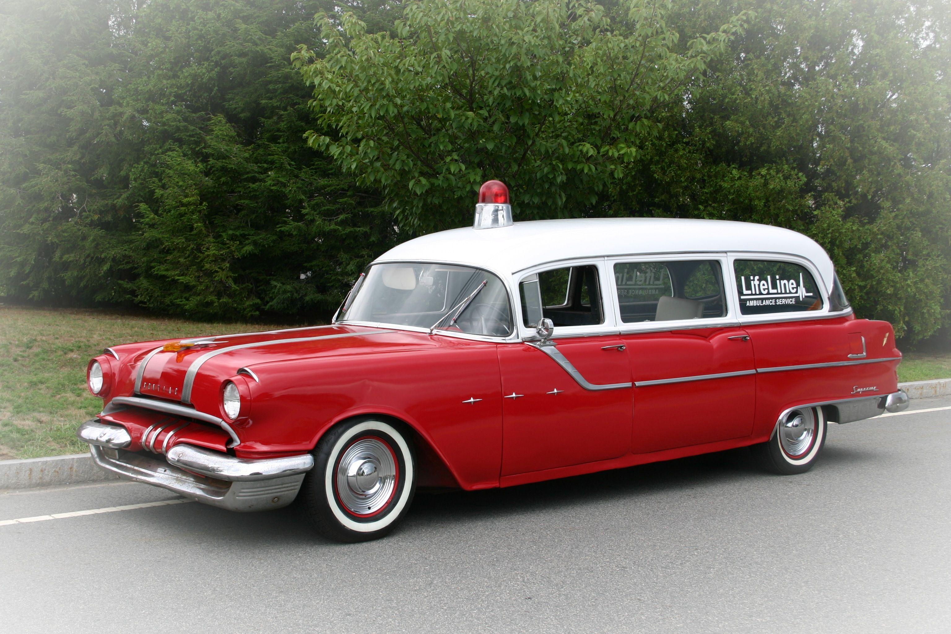 vintage Pontiac Ambulance