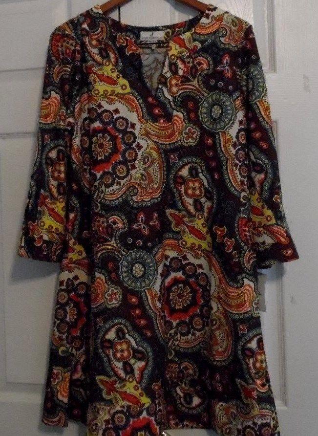 Jude Connally - Megan Dress, Medallion Taupe - Size XL - NWT #JudeConnally #Megan #Casual
