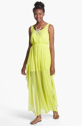 i love this one too!! Soprano Side Slit Maxi Dress (Juniors) available at #Nordstrom