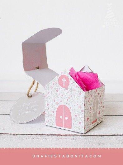 Cajita iglesia - primera comunión - niña orando | Niño orando, Orar ...