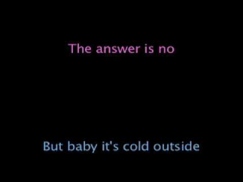 Baby It S Cold Outside Lyrics Dean Martin Doris Day Outside