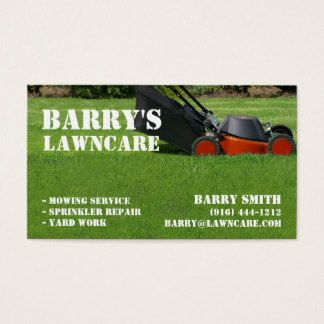 sample lawn care business cards