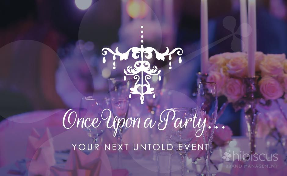 Once Upon A Party Event Design Event Planner Logo Chandelier Logo Event Planner Logo Event Planning Logo Party Planners Logo