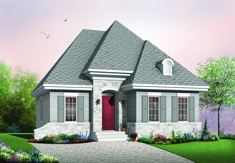House Plan 034 00292 Narrow Lot Plan 946 Square Feet 2 Bedrooms 1 Bathroom Narrow Lot House Plans Cottage Style House Plans House Plans