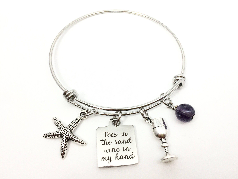 Beach Theme Charm Bracelet Alex And Ani Inspired