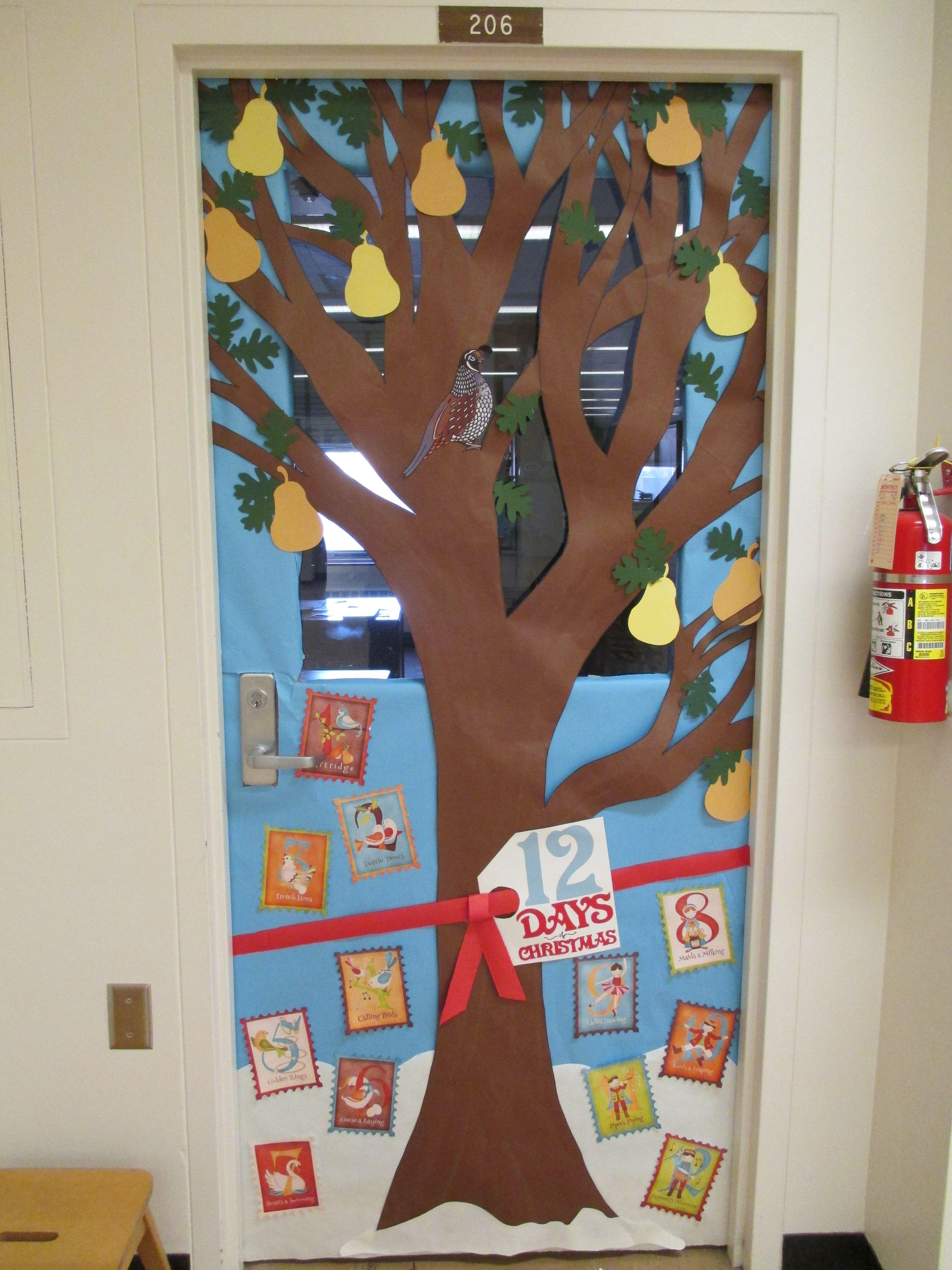 12 days of christmas door decorating ideas