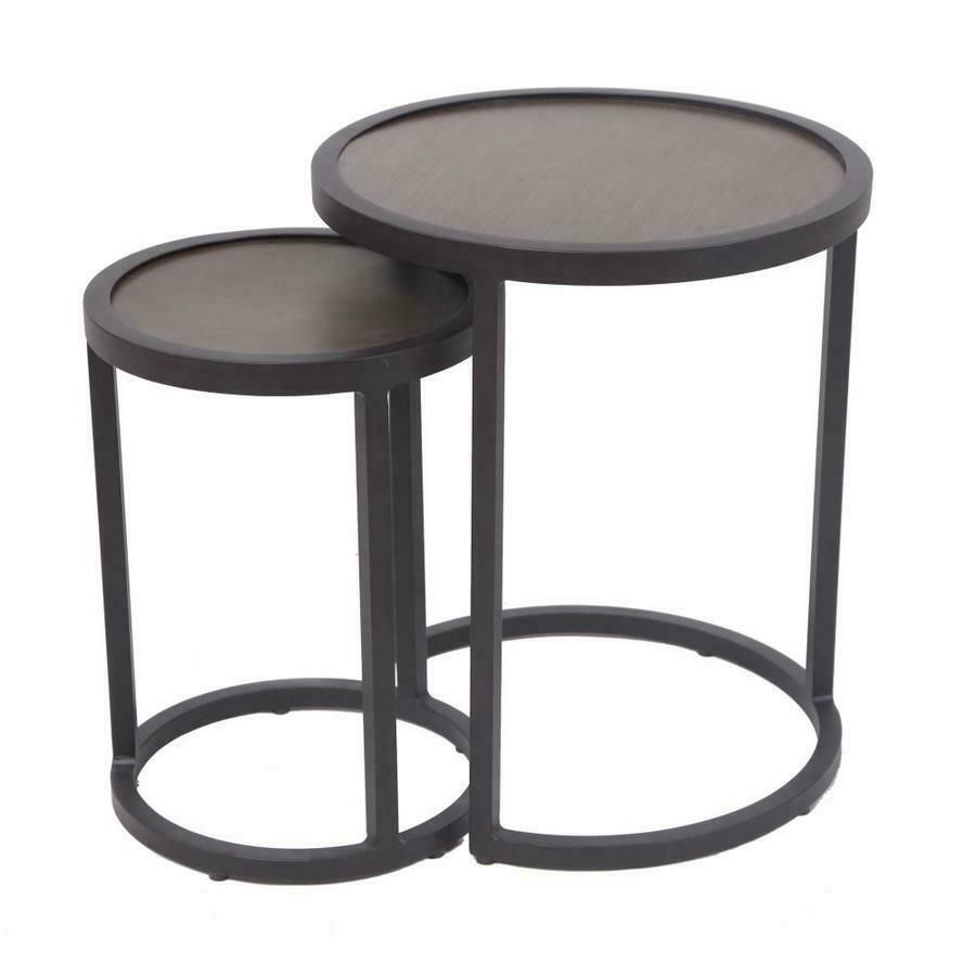 Garden Treasures 2 Pc Nesting Side Tables Heavy Duty Aluminum