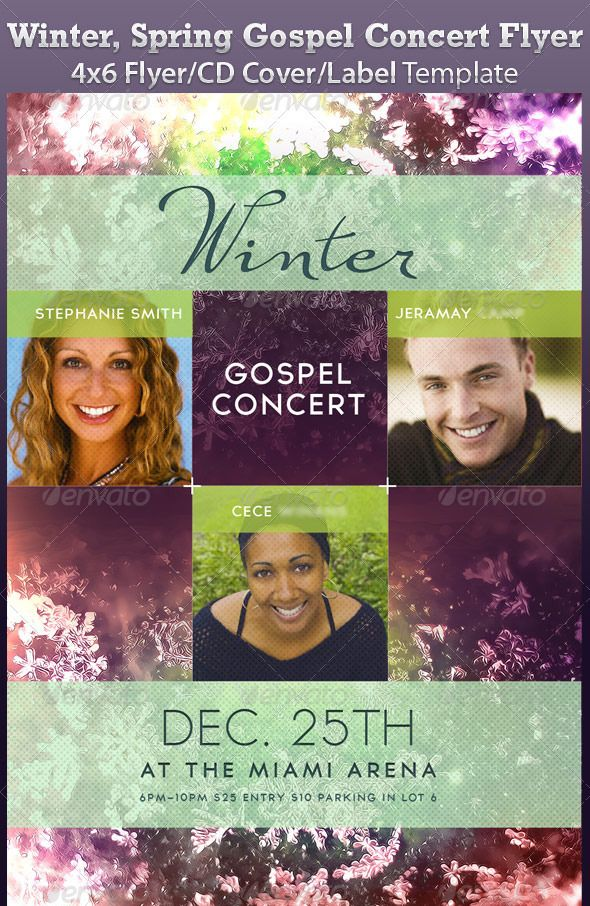Winter Spring Gospel Concert Flyer Graphic Ideas Pinterest