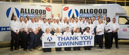 Award Winning Service From Allgood Thank You Gwinnett