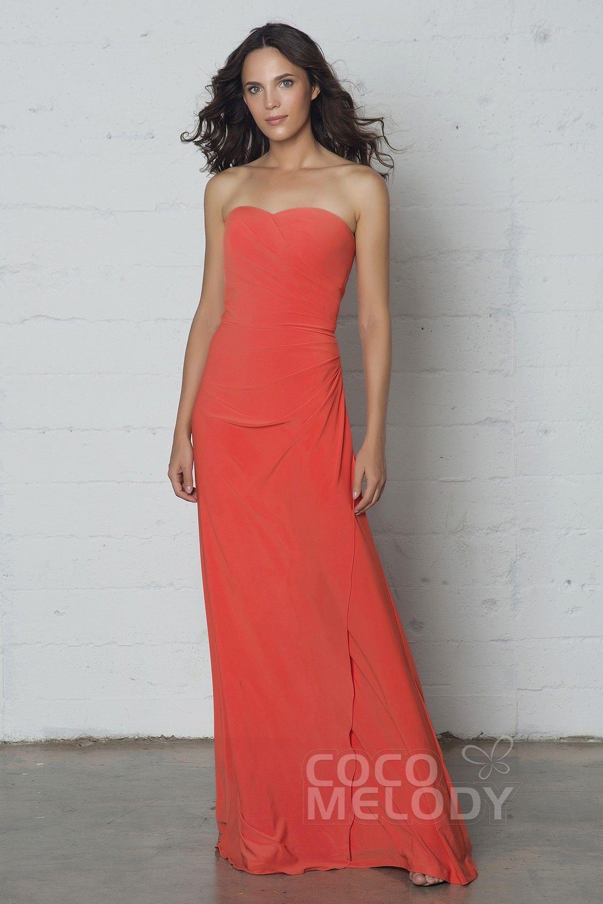 Modern Sheath Column Strapless Prom Dress