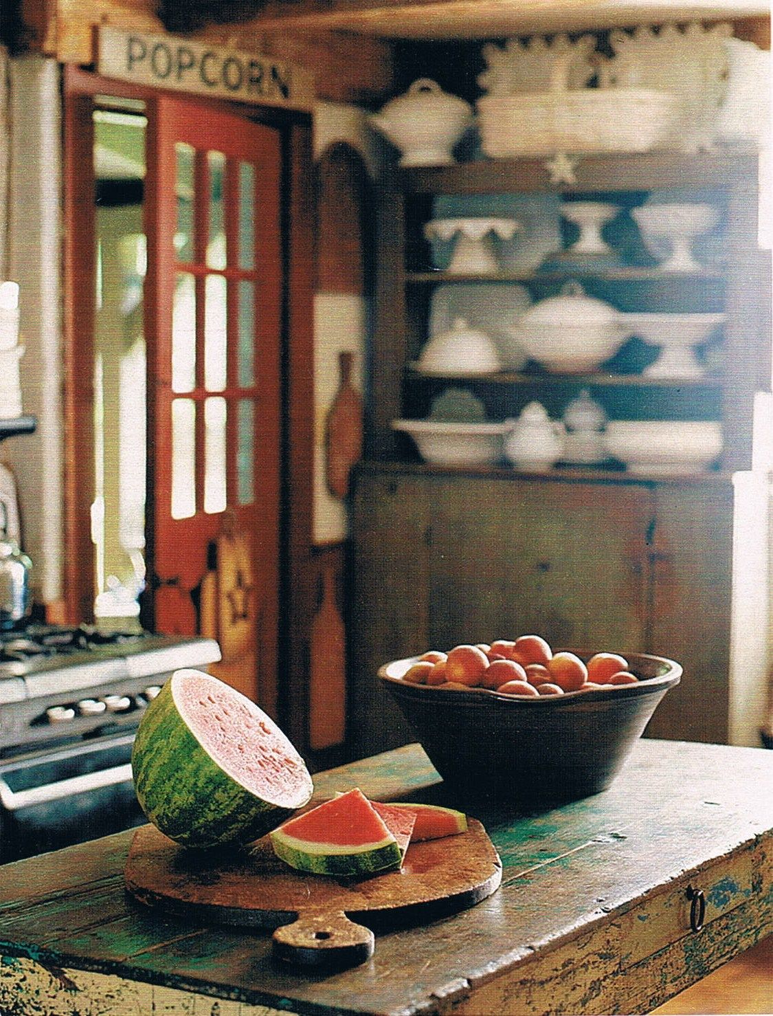 really rustic kitchen
