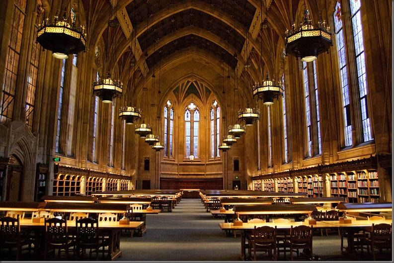 The Washington University Library Seattle Washington University Of Washington Beautiful Library Library University