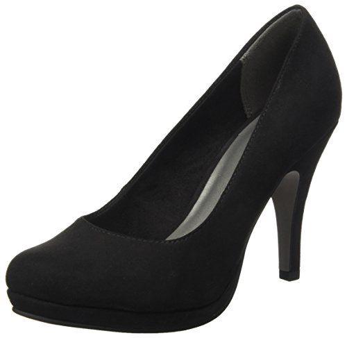 22435, Escarpins Femme, Noir (Black Leather), 36 EUTamaris