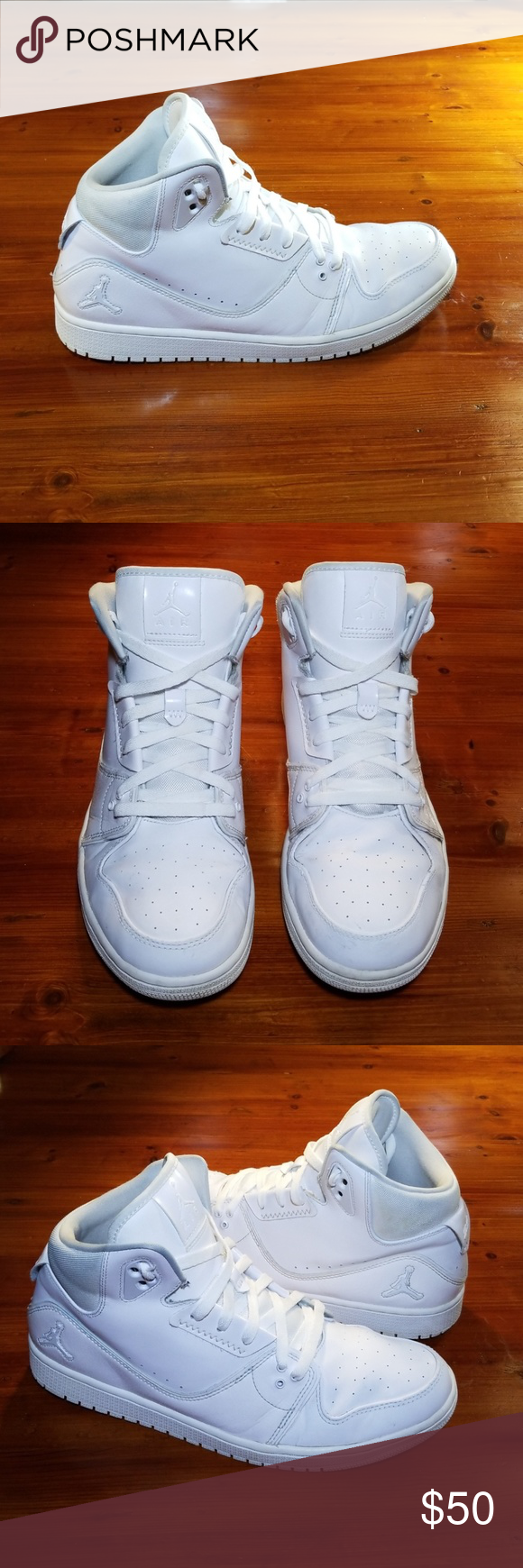 bd3bd0342efba0 Nike Air Jordan 1 Flight 3. All white. Mens 12. Nike Air Jordan 1 Flight 3. All  white. Mens 12. Some small scuffs on shoes. Please see pics. Price reflects.