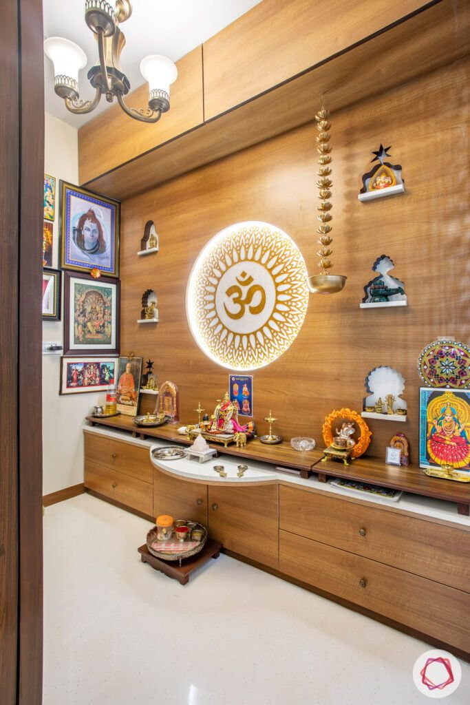Pooja Room Designs For Flats: Stylish & Low-maintenance At Crescent Bay In 2020