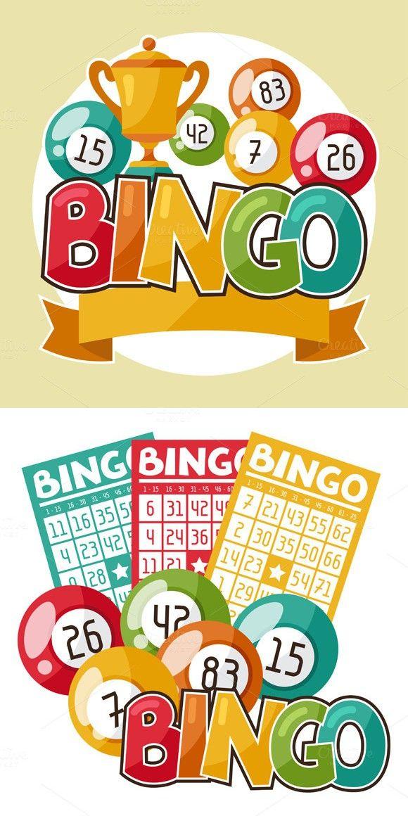 Bingo Or Lottery Retro Illustrations Flyer Templates