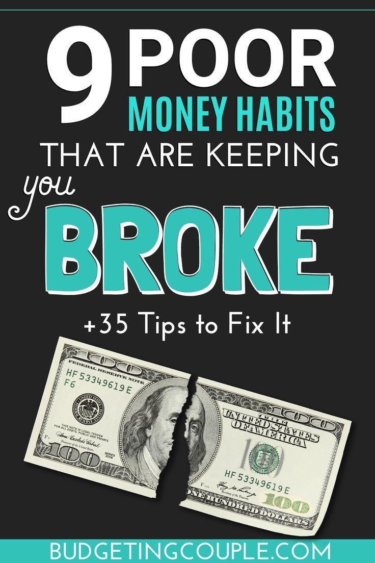 Why Am I Poor? Top 35 Tips To Stop Being Broke and Start Saving Money #startsavingmoney