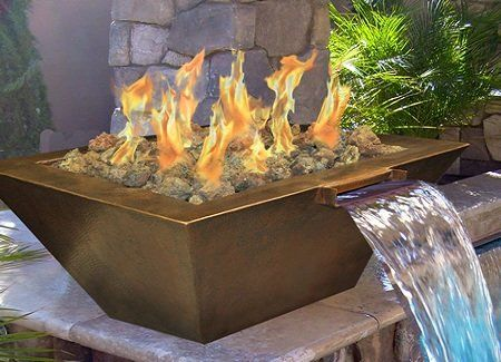 Pin By Sydnee Langley On Soaking Up The Sun Fire Pit With Water Feature Gas Fire Pits Outdoor Pool Water Features