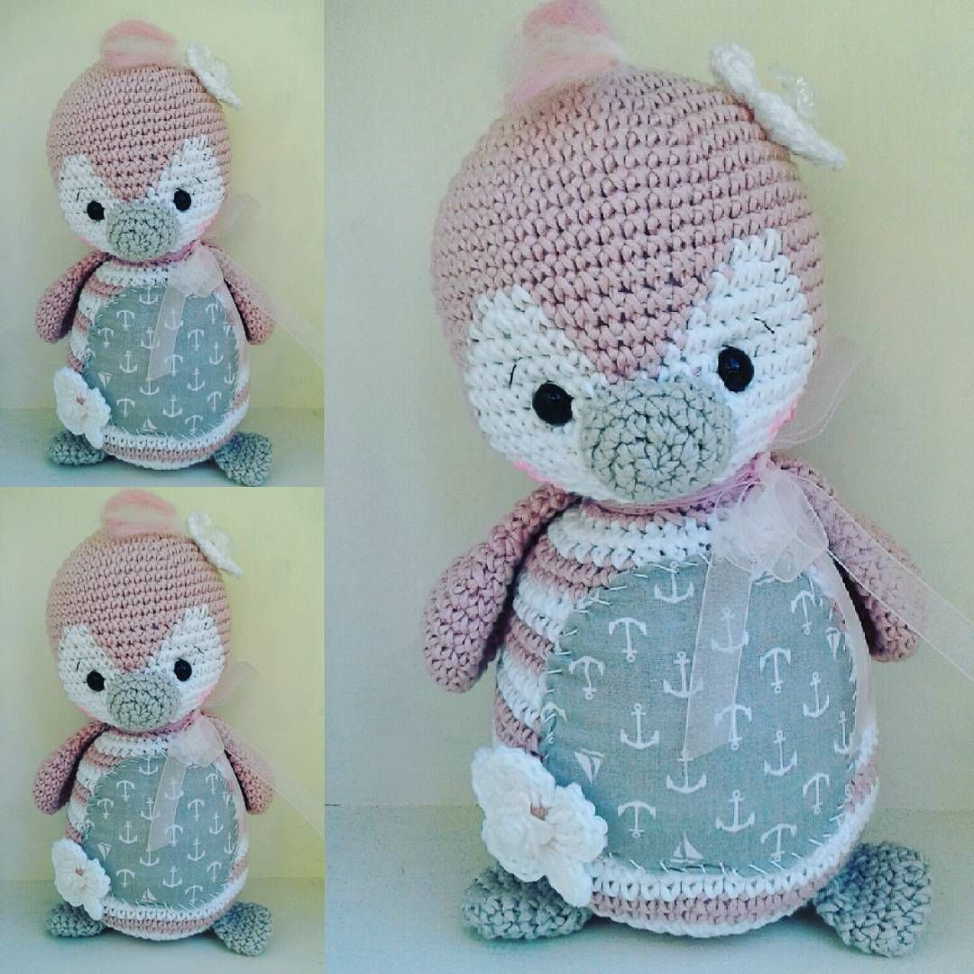Pitschu der kleine Pinguin...pattern @amalou.designs #crochetlove ...
