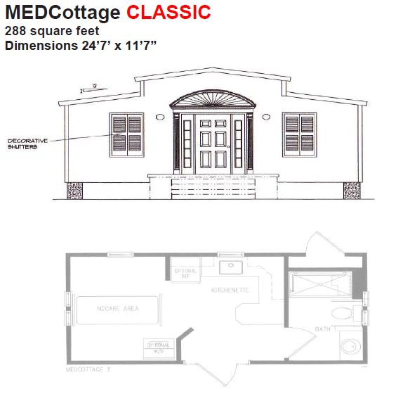 Medcottage classic floor plan aging in place pinterest Granny cottage plans