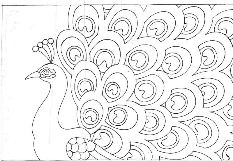 free printable peackoxk mosaic art coloring pages | Peacock Drawings | rug patterns page 10 | Sam's Wedding ...