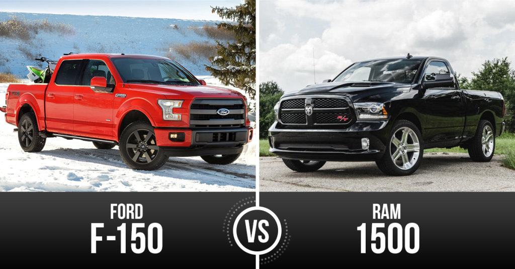 Truck Week Battle Of The Big Dogs Ford F 150 Vs Ram 1500 Ford F150 Ford Big Dogs