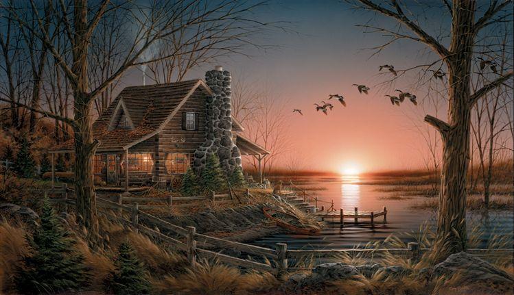 Artist At Home Terry Redlin Canvas Art Prints Lakeside