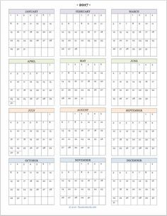 8 Best Images Of Calendar 2016 Printable Year At A Glance   2016 Year At  Glance Calendar Printable, Free Printable 2016 Calendar With Holidays And  2015 Year ...