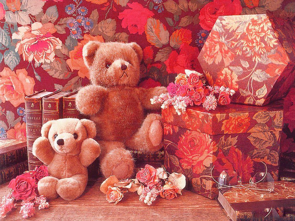 Bunny Cute Pink Teddy Bear Hd Wallpapers For Desktop: Sweet Animated Teddy Bear Wallpaper For Desktop
