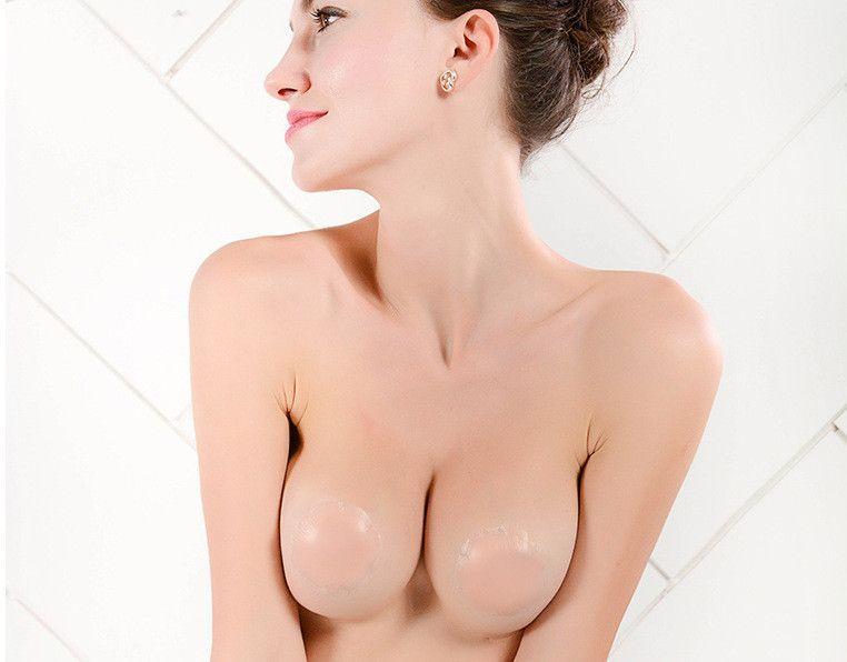 e8e3e9105847f Reusable Invisible Self Adhesive Silicone Breast Chest Nipple Cover Bra  Pasties Pad Petal Mat Stickers Accessories For Woman New