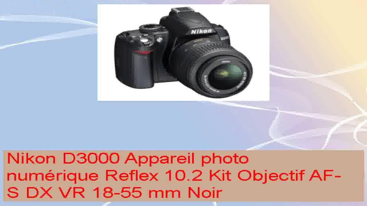 Cool nikon d3000 appareil photo numrique reflex 102 kit objectif cool nikon d3000 appareil photo numrique reflex 102 kit objectif afs dx vr 1855 mm noir baditri Images