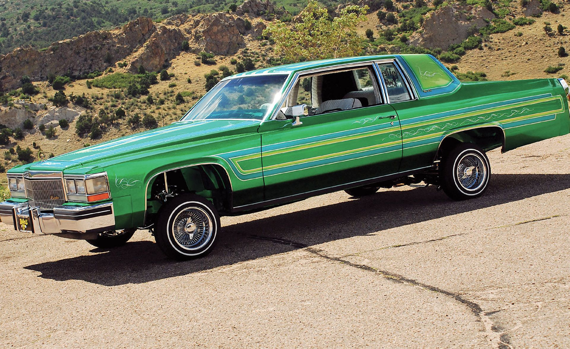 1984 Green Custom Cadillac Coupe Deville Lowrider Vroom