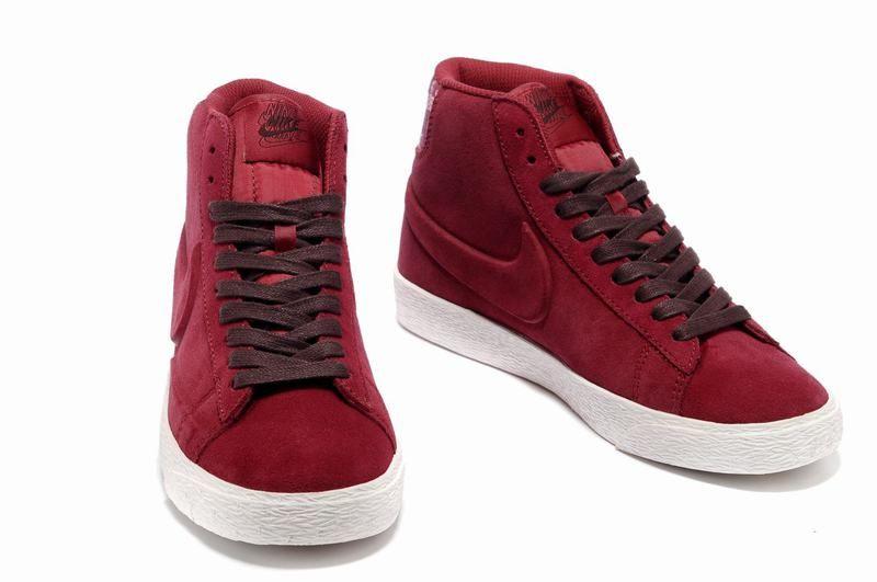 Nike Blazer High Women Suede VT Gym Red/Burgundy Sale