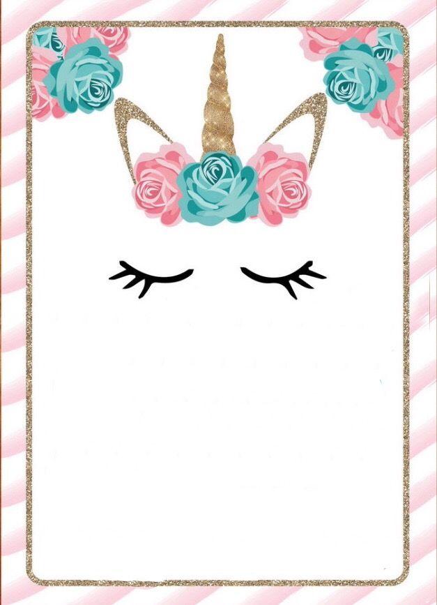 plantilla, niña, pastel, unicornio | Inv | Pinterest | Mi papá, Mi ...