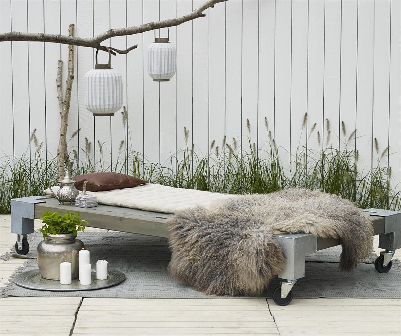Garten Und Terrassenmöbel cubic daybed gartenbett bett liege sonnenbett sonnenliege in garten