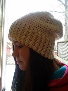 crochet hat patterns free pinterest | Slouchy hat - free crochet pattern